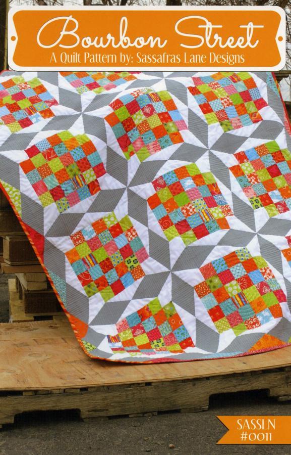 Bourbon Street quilt sewing pattern from Sassafras Lane Designs