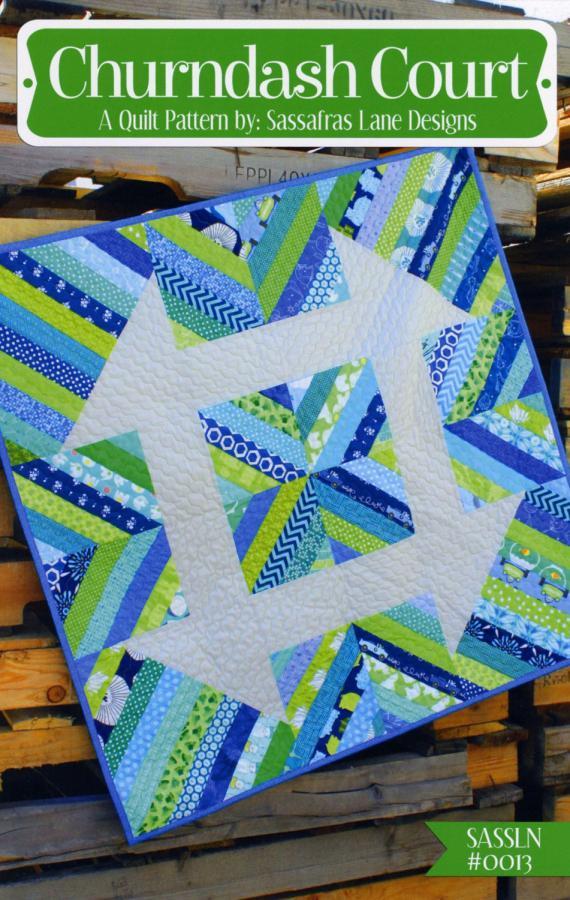 Churndash Court quilt sewing pattern from Sassafras Lane Designs