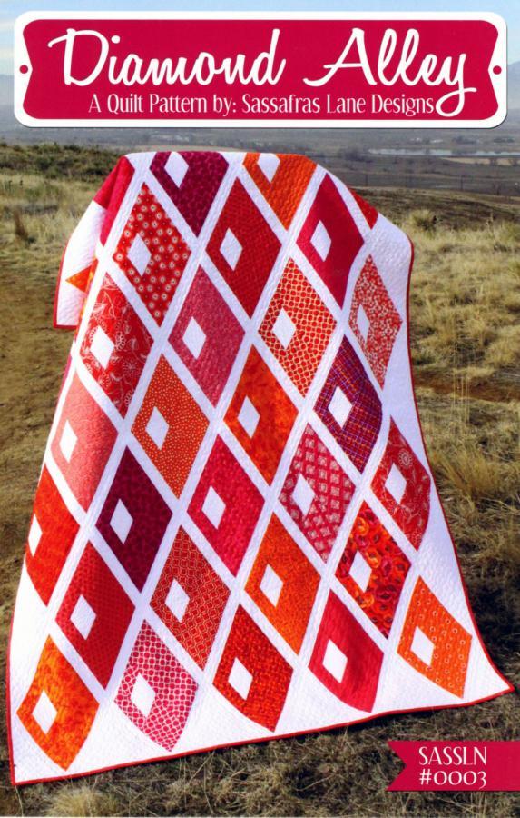 Diamond Alley quilt sewing pattern from Sassafras Lane Designs