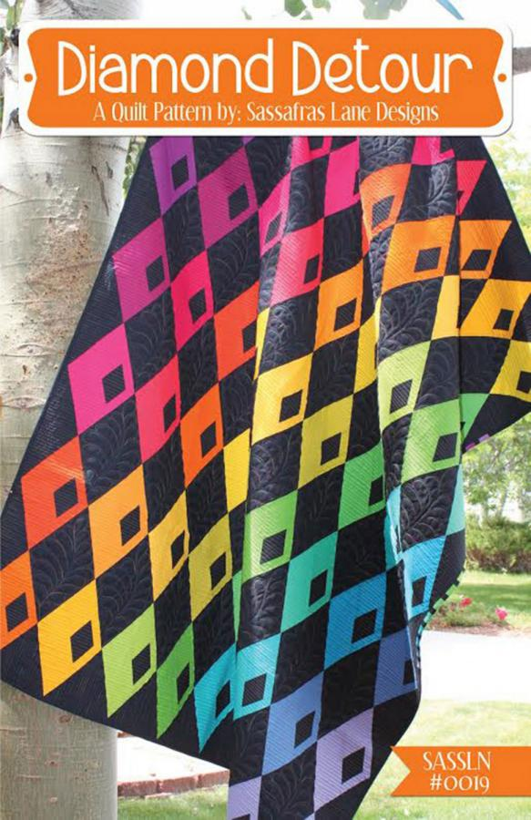 Diamond Detour quilt sewing pattern from Sassafras Lane Designs