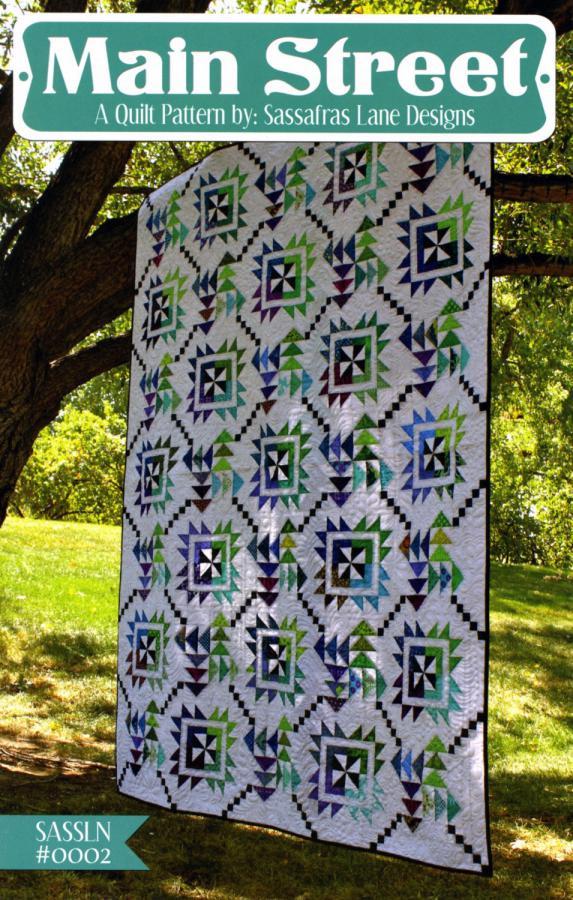 Main Street quilt sewing pattern from Sassafras Lane Designs