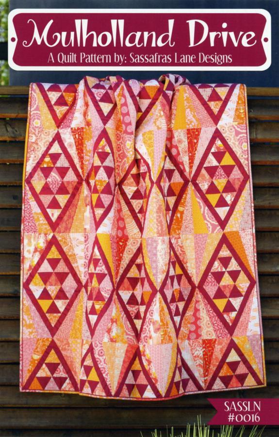 Mulholland Drive quilt sewing pattern from Sassafras Lane Designs