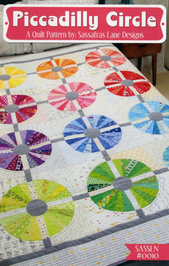 Piccadilly Circle quilt sewing pattern from Sassafras Lane Designs
