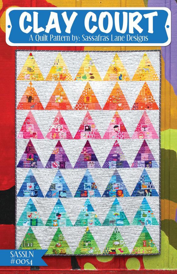 Clay Court quilt sewing pattern from Sassafras Lane Designs