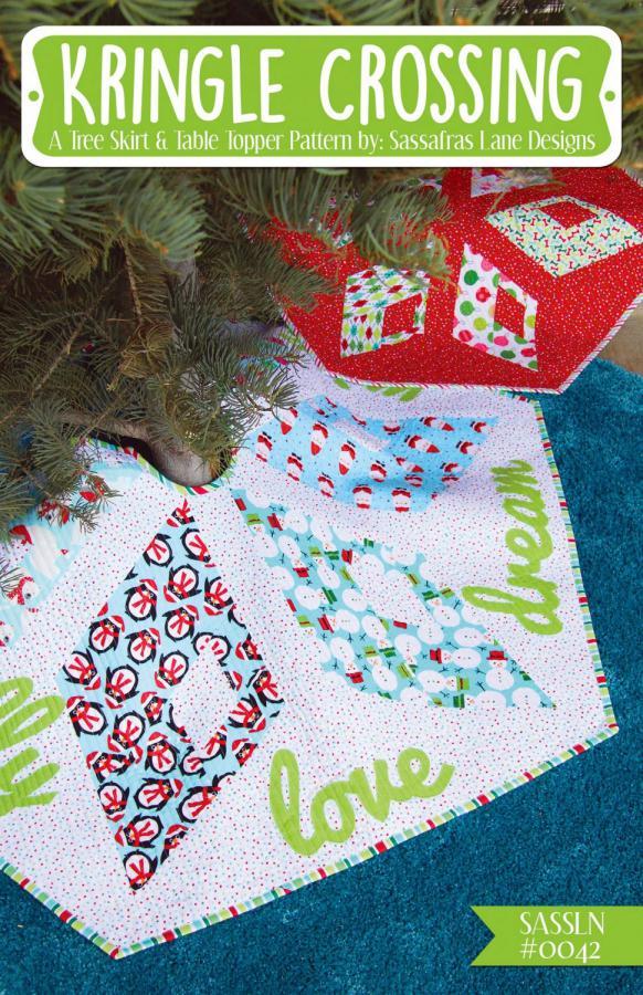 Kringle Crossing Tree Skirt-Table Runner sewing pattern from Sassafras Lane Designs