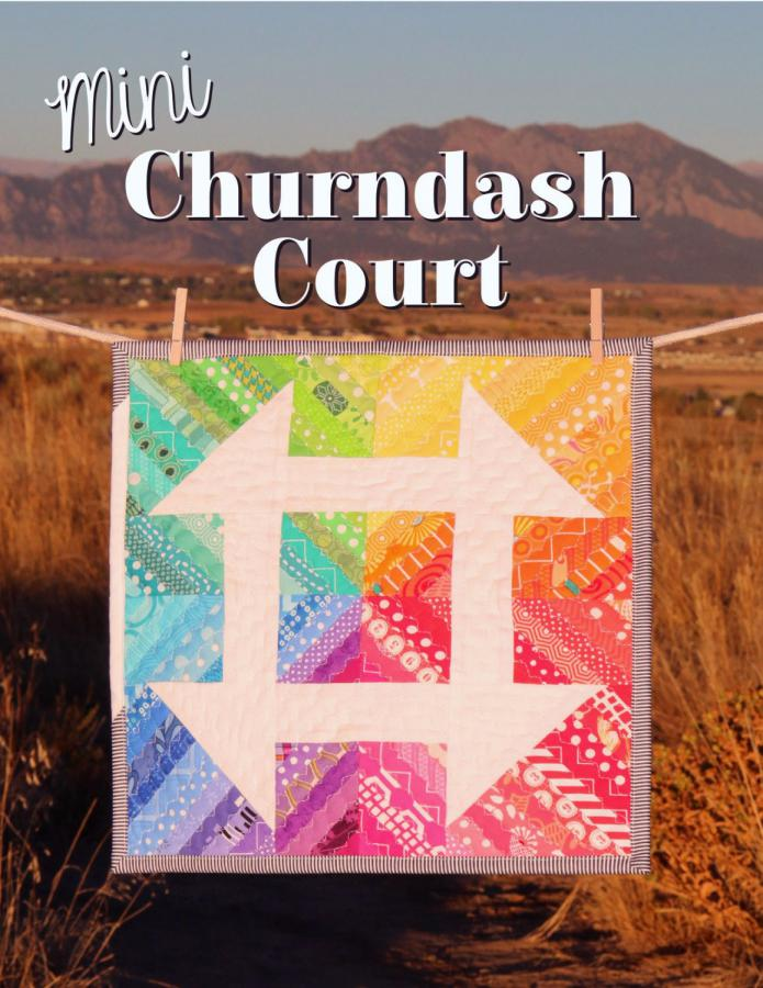 Mini Churndash Court quilt sewing pattern from Sassafras Lane Designs