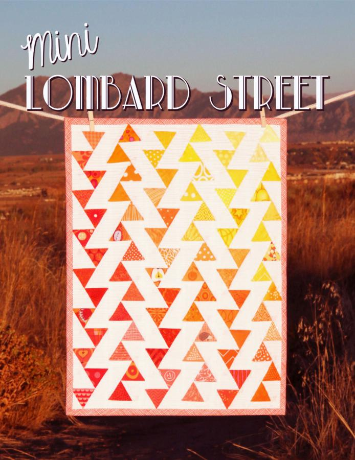 Mini Lombard Street quilt sewing pattern from Sassafras Lane Designs