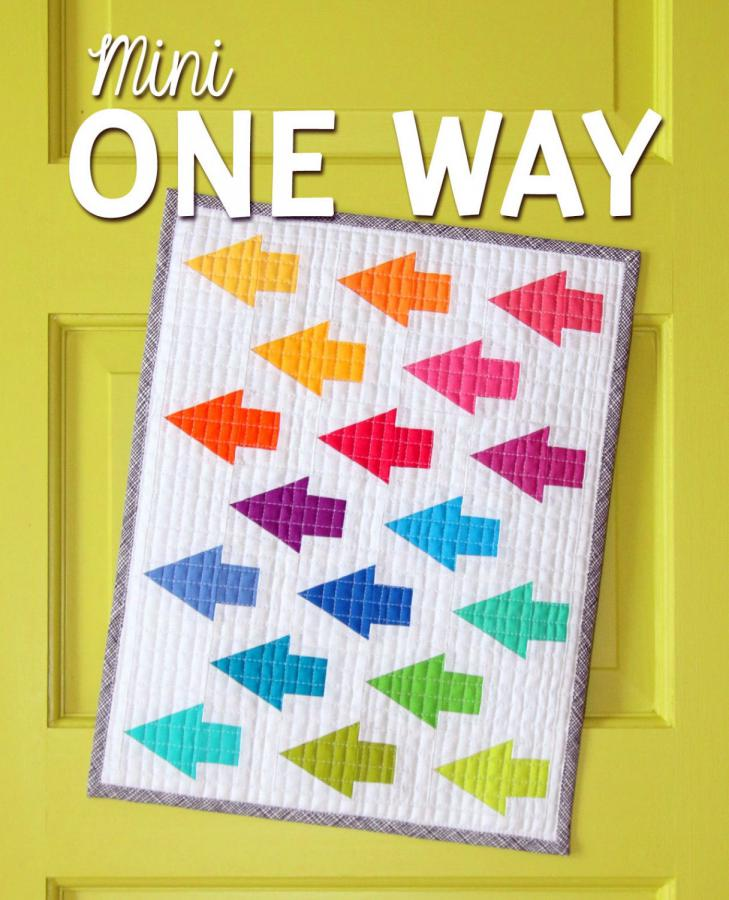 Mini One Way quilt sewing pattern from Sassafras Lane Designs