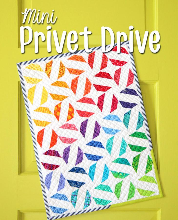 Mini Privet Drive quilt sewing pattern from Sassafras Lane Designs