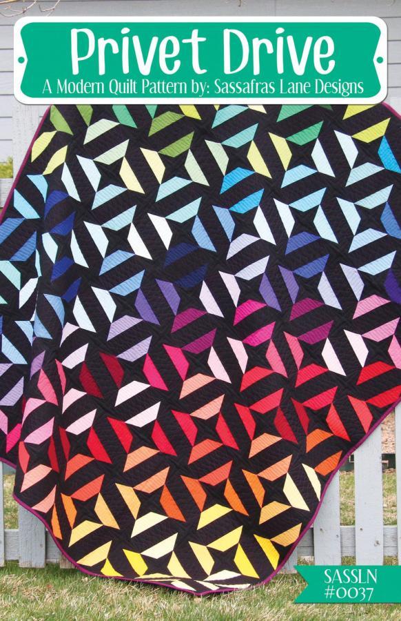 Privet Drive quilt sewing pattern from Sassafras Lane Designs