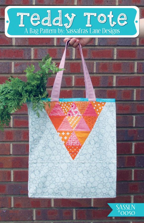 Teddy Tote sewing pattern from Sassafras Lane Designs