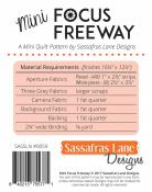Mini Focus Freeway quilt sewing pattern from Sassafras Lane Designs 1