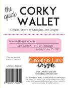 The Quick Corky Wallet sewing pattern from Sassafras Lane Designs 2