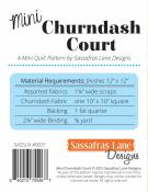 Mini Churndash Court quilt sewing pattern from Sassafras Lane Designs 1