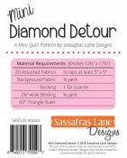 Mini Diamond Detour quilt sewing pattern from Sassafras Lane Designs 1