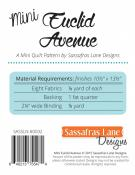 Mini Euclid Avenue quilt sewing pattern from Sassafras Lane Designs 1
