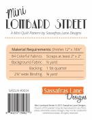 Mini Lombard Street quilt sewing pattern from Sassafras Lane Designs 1