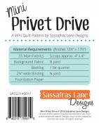 Mini Privet Drive quilt sewing pattern from Sassafras Lane Designs 1