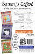 Sammy's Safari quilt sewing pattern from Sassafras Lane Designs 1