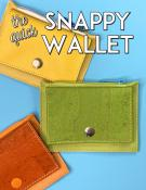 The Quick Snappy (cork, leather or vinyl) Wallet sewing pattern from Sassafras Lane Designs