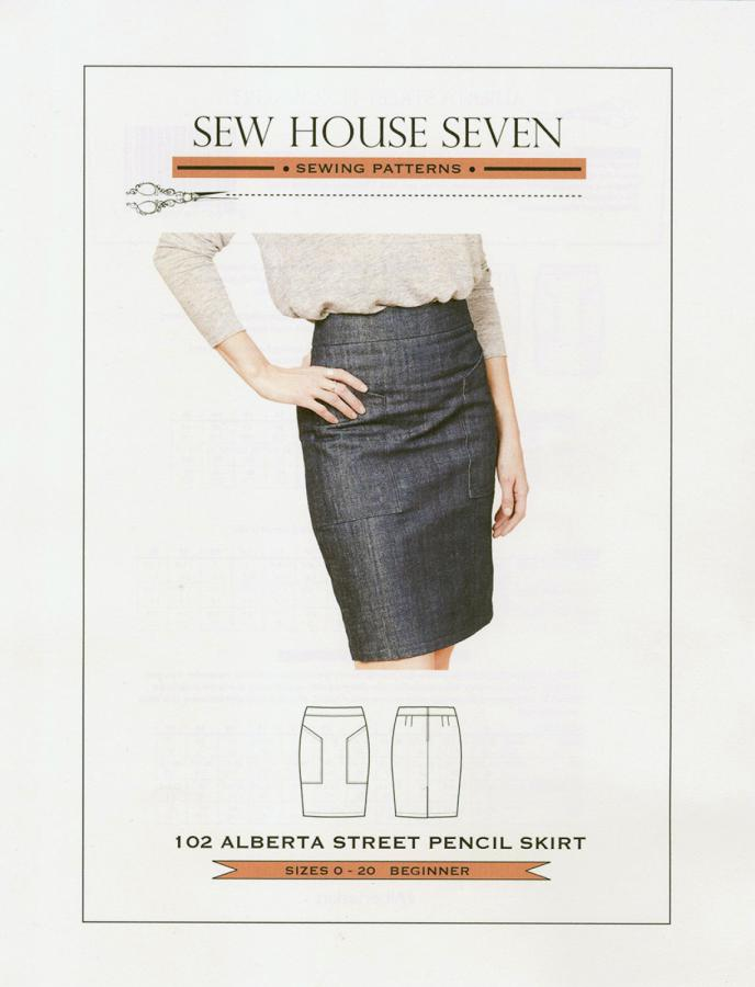 Alberta Street Pencil Skirt sewing pattern from Sew House Seven
