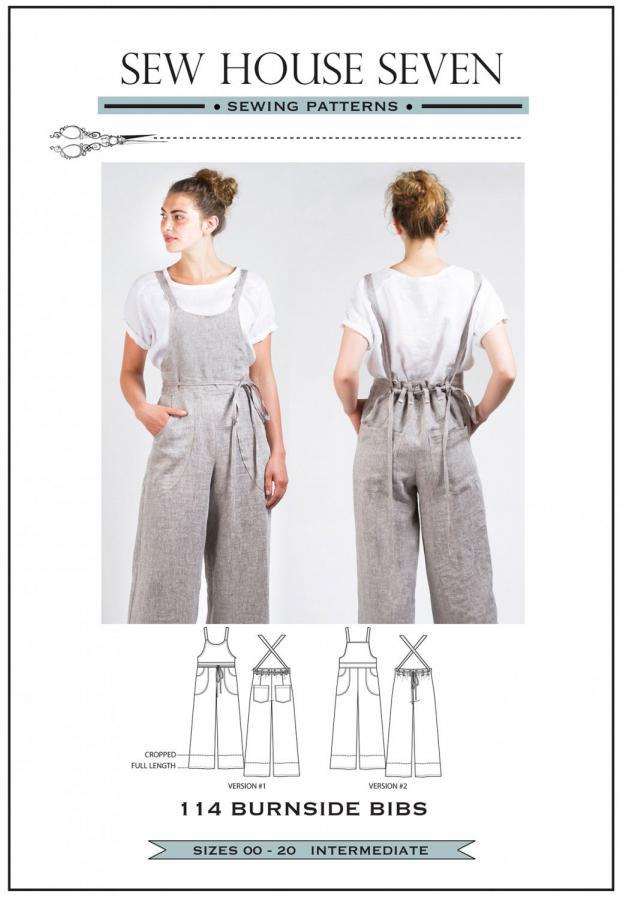 Burnside Bibs sewing pattern from Sew House Seven