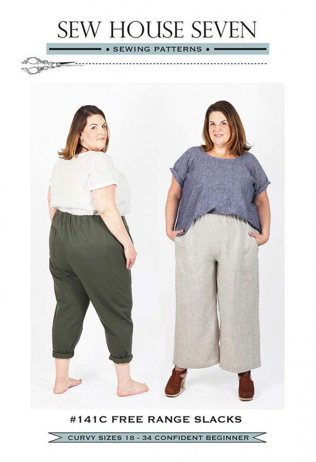 Free Range Slacks-Curvy-sewing pattern from Sew House Seven