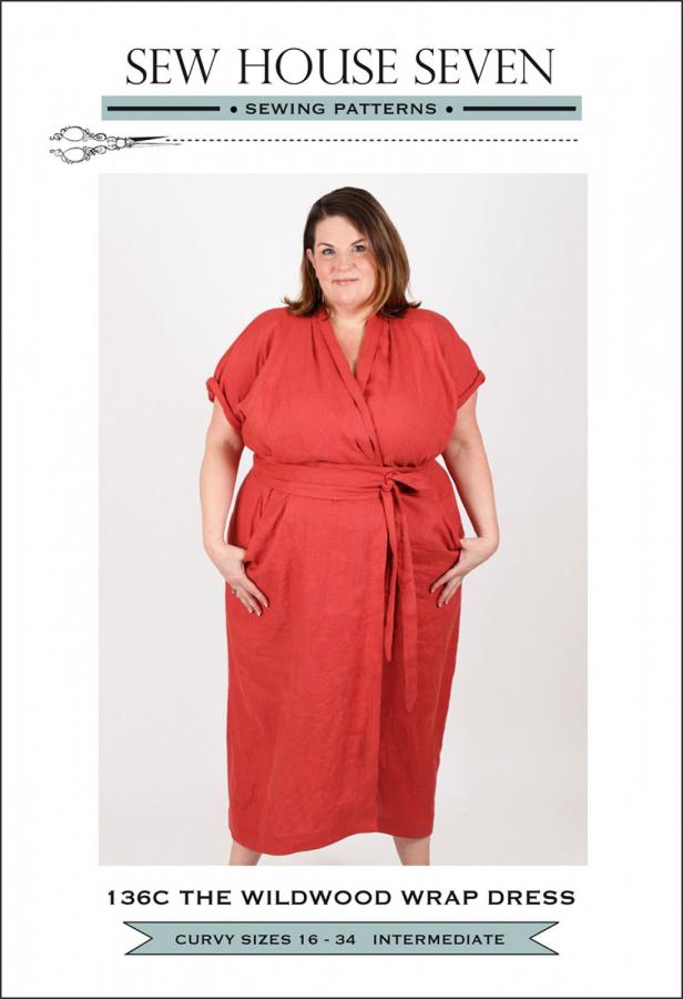 The Wildwood Wrap Dress-Curvy Fit sewing pattern from Sew House Seven
