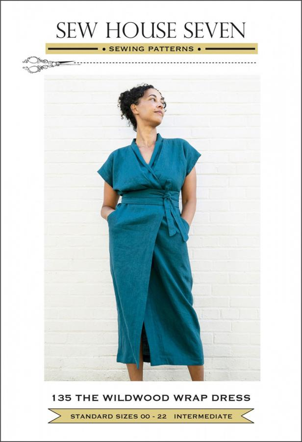 The Wildwood Wrap Dress sewing pattern from Sew House Seven