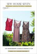 Mississippi Avenue Dress and Top sewing pattern from Sew House Seven