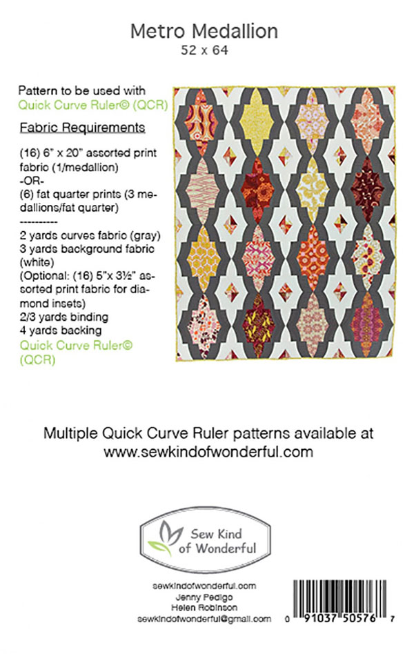 Metro-Medallion-quilt-sewing-pattern-sew-kind-of-wonderful-back