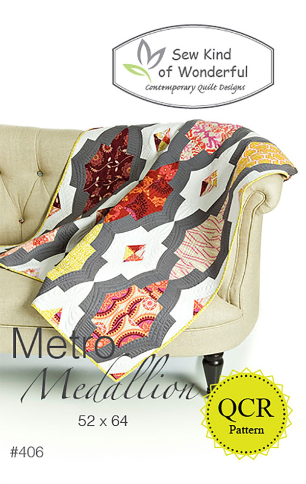 Metro-Medallion-quilt-sewing-pattern-sew-kind-of-wonderful-front