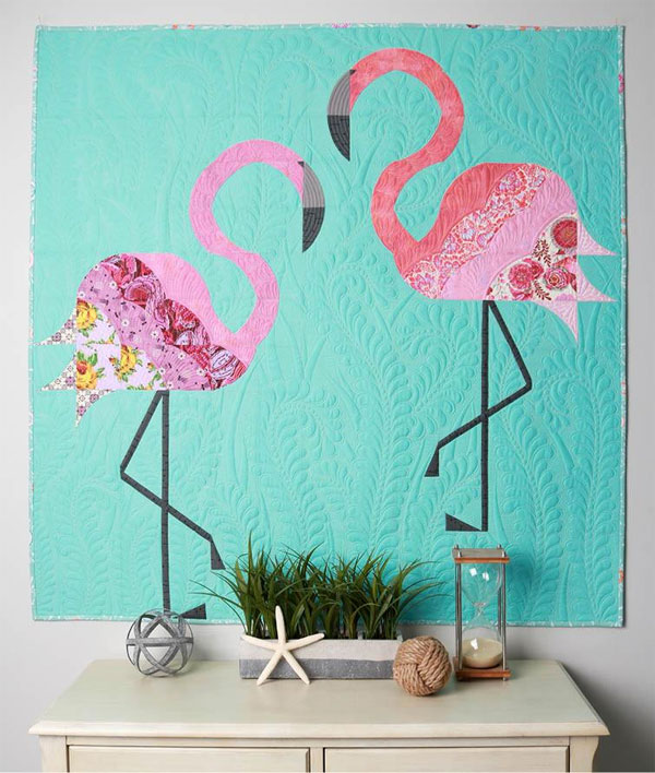 Mod-Flamingos-quilt-sewing-pattern-sew-kind-of-wonderful-1