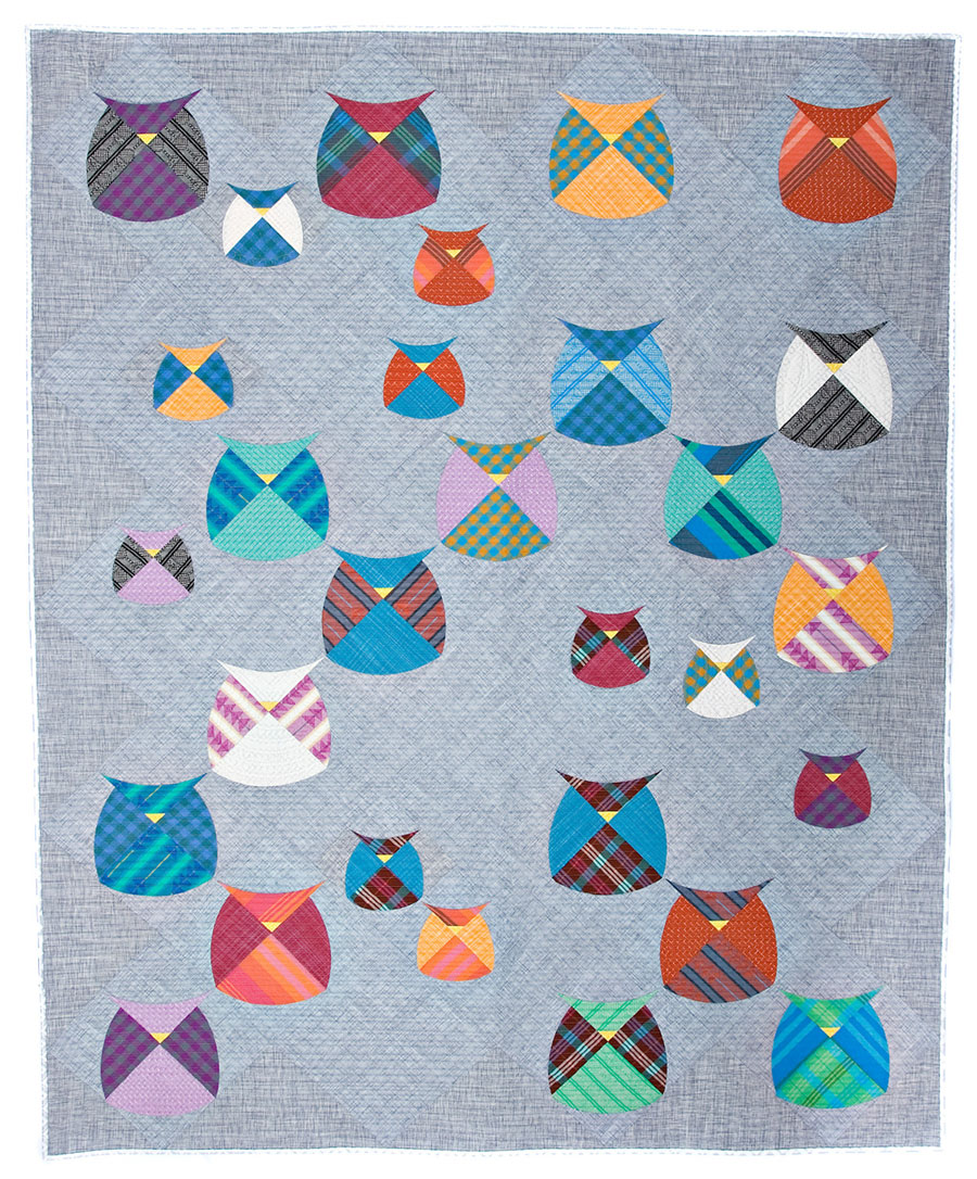 Mod owls quilt sewing pattern from sew kind of wonderful jeuxipadfo Gallery