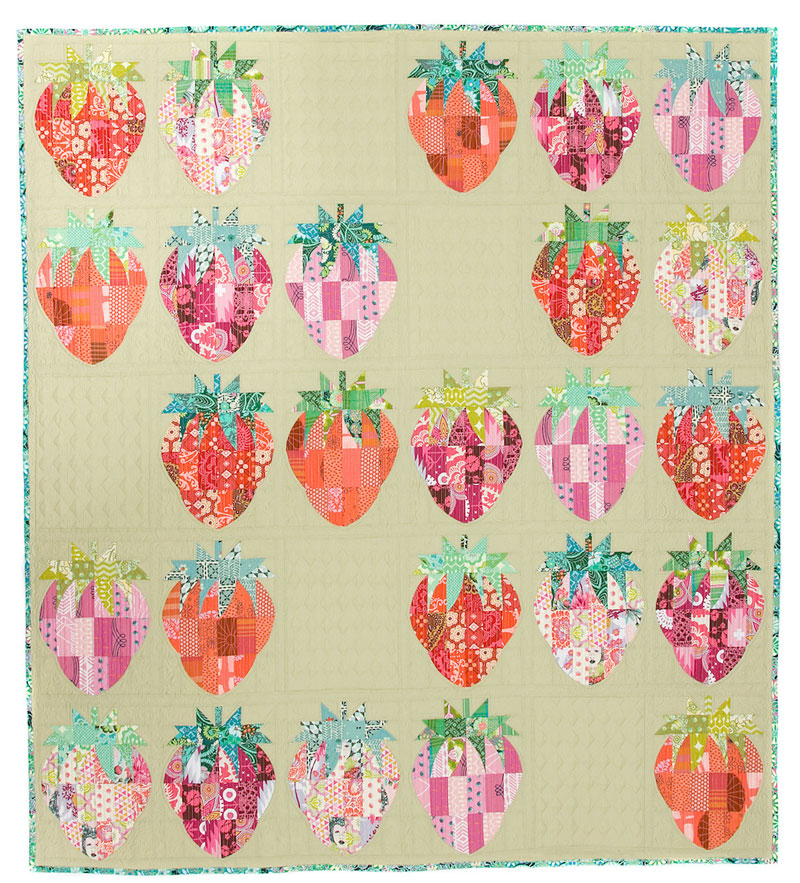 Mod-Strawberries-quilt-sewing-pattern-sew-kind-of-wonderful-2