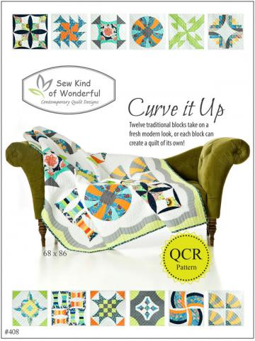 Curve It Up quilt sewing pattern from Sew Kind of Wonderful
