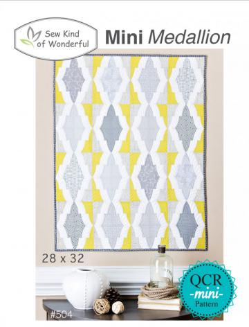 Mini-Medallion-quilt-sewing-pattern-sew-kind-of-wonderful-front