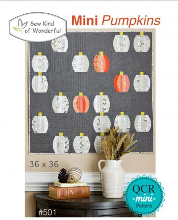 Mini Pumpkins quilt sewing pattern from Sew Kind of Wonderful