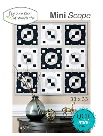 Mini Scope quilt sewing pattern from Sew Kind of Wonderful
