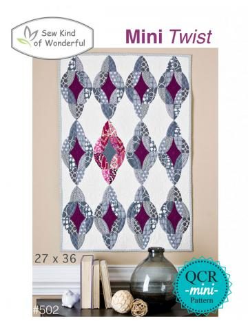 INVENTORY REDUCTION...Mini Twist quilt sewing pattern from Sew Kind of Wonderful
