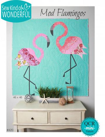 Mod Flamingos quilt sewing pattern from Sew Kind of Wonderful