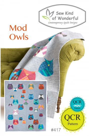 Mod Owls quilt sewing pattern from Sew Kind of Wonderful