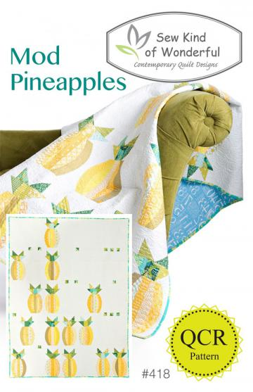 Mod Pineapples quilt sewing pattern from Sew Kind of Wonderful