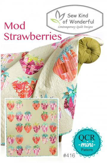 Mod-Strawberries-quilt-sewing-pattern-sew-kind-of-wonderful-front