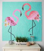 Mod Flamingos quilt sewing pattern from Sew Kind of Wonderful 2