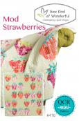 Mod Strawberries quilt sewing pattern from Sew Kind of Wonderful