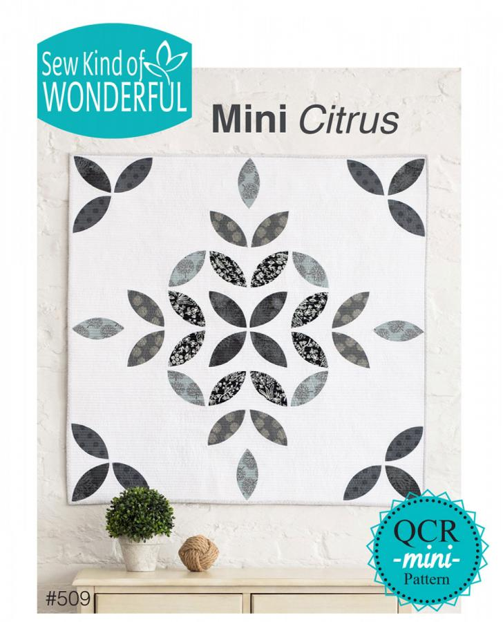 Mini Citrus quilt sewing pattern from Sew Kind of Wonderful