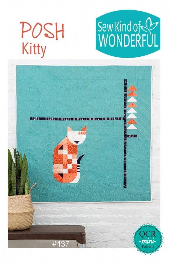 Posh Kitty quilt sewing pattern from Sew Kind of Wonderful