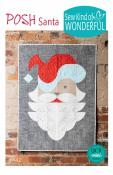 INVENTORY REDUCTION...Posh Santa quilt sewing pattern from Sew Kind of Wonderful