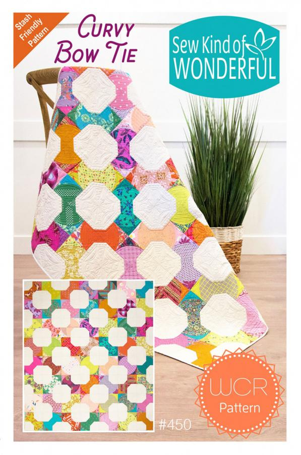 Curvy Bow Tie quilt sewing pattern from Sew Kind of Wonderful